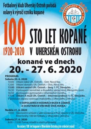 Oslavy výročí 100 let fotbalu v Uherském Ostrohu.